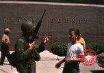 Image of United States soldiers on Guard duty in City Detroit Michigan USA, 1967, second 52 stock footage video 65675071096