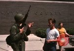 Image of United States soldiers on Guard duty in City Detroit Michigan USA, 1967, second 54 stock footage video 65675071096