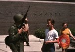 Image of United States soldiers on Guard duty in City Detroit Michigan USA, 1967, second 55 stock footage video 65675071096