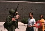 Image of United States soldiers on Guard duty in City Detroit Michigan USA, 1967, second 56 stock footage video 65675071096