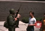 Image of United States soldiers on Guard duty in City Detroit Michigan USA, 1967, second 58 stock footage video 65675071096