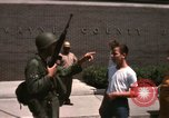 Image of United States soldiers on Guard duty in City Detroit Michigan USA, 1967, second 60 stock footage video 65675071096