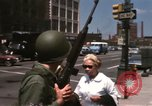 Image of United States soldiers on Guard duty in City Detroit Michigan USA, 1967, second 62 stock footage video 65675071096