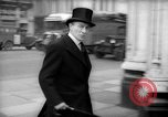 Image of British officials entering the House of Commons grounds London England United Kingdom, 1938, second 60 stock footage video 65675071127
