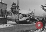 Image of US Soldiers examine damaged US M4 and German Panther tank Sterpigny Belgium, 1945, second 33 stock footage video 65675071156