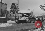 Image of US Soldiers examine damaged US M4 and German Panther tank Sterpigny Belgium, 1945, second 34 stock footage video 65675071156