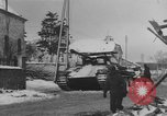 Image of US Soldiers examine damaged US M4 and German Panther tank Sterpigny Belgium, 1945, second 35 stock footage video 65675071156