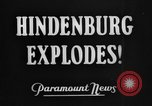 Image of Hindenburg crash New Jersey United States USA, 1937, second 2 stock footage video 65675071176