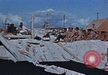 Image of Religious services at a bomb crater on Midway Island Pacific Ocean, 1942, second 8 stock footage video 65675071189