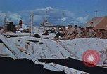 Image of Religious services at a bomb crater on Midway Island Pacific Ocean, 1942, second 10 stock footage video 65675071189