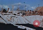 Image of Religious services at a bomb crater on Midway Island Pacific Ocean, 1942, second 12 stock footage video 65675071189