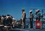 Image of Religious services at a bomb crater on Midway Island Pacific Ocean, 1942, second 19 stock footage video 65675071189