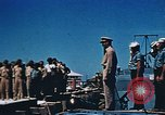 Image of Religious services at a bomb crater on Midway Island Pacific Ocean, 1942, second 20 stock footage video 65675071189