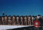 Image of Religious services at a bomb crater on Midway Island Pacific Ocean, 1942, second 22 stock footage video 65675071189