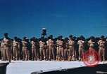 Image of Religious services at a bomb crater on Midway Island Pacific Ocean, 1942, second 23 stock footage video 65675071189