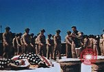 Image of Religious services at a bomb crater on Midway Island Pacific Ocean, 1942, second 26 stock footage video 65675071189