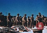 Image of Religious services at a bomb crater on Midway Island Pacific Ocean, 1942, second 27 stock footage video 65675071189
