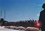 Image of Religious services at a bomb crater on Midway Island Pacific Ocean, 1942, second 44 stock footage video 65675071189