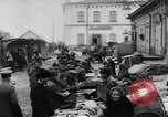 Image of market place Russia, 1918, second 25 stock footage video 65675071231