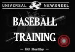 Image of NY Yankees and NY Giants in baseball spring training Atlantic City New Jersey USA, 1944, second 5 stock footage video 65675071249