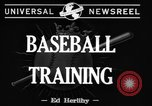 Image of NY Yankees and NY Giants in baseball spring training Atlantic City New Jersey USA, 1944, second 6 stock footage video 65675071249