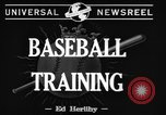 Image of NY Yankees and NY Giants in baseball spring training Atlantic City New Jersey USA, 1944, second 8 stock footage video 65675071249