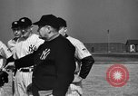 Image of NY Yankees and NY Giants in baseball spring training Atlantic City New Jersey USA, 1944, second 15 stock footage video 65675071249