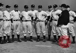 Image of NY Yankees and NY Giants in baseball spring training Atlantic City New Jersey USA, 1944, second 21 stock footage video 65675071249