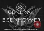 Image of Dwight D Eisenhower United Kingdom, 1944, second 3 stock footage video 65675071260