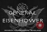 Image of Dwight D Eisenhower United Kingdom, 1944, second 4 stock footage video 65675071260