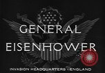 Image of Dwight D Eisenhower United Kingdom, 1944, second 7 stock footage video 65675071260