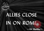 Image of ruins Rome Italy, 1944, second 1 stock footage video 65675071261