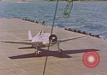 Image of US Navy Squadron VF-16 aboard USS Lexington (CV-16) Pacific Ocean, 1944, second 1 stock footage video 65675071281