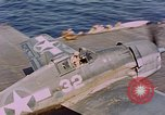 Image of US Navy Squadron VF-16 aboard USS Lexington (CV-16) Pacific Ocean, 1944, second 7 stock footage video 65675071281