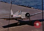 Image of US Navy Squadron VF-16 aboard USS Lexington (CV-16) Pacific Ocean, 1944, second 9 stock footage video 65675071281