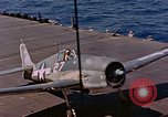 Image of US Navy Squadron VF-16 aboard USS Lexington (CV-16) Pacific Ocean, 1944, second 10 stock footage video 65675071281