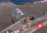 Image of US Navy Squadron VF-16 aboard USS Lexington (CV-16) Pacific Ocean, 1944, second 14 stock footage video 65675071281