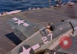 Image of US Navy Squadron VF-16 aboard USS Lexington (CV-16) Pacific Ocean, 1944, second 15 stock footage video 65675071281
