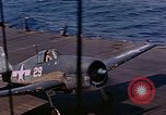 Image of US Navy Squadron VF-16 aboard USS Lexington (CV-16) Pacific Ocean, 1944, second 18 stock footage video 65675071281