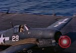 Image of US Navy Squadron VF-16 aboard USS Lexington (CV-16) Pacific Ocean, 1944, second 19 stock footage video 65675071281