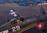 Image of US Navy Squadron VF-16 aboard USS Lexington (CV-16) Pacific Ocean, 1944, second 22 stock footage video 65675071281
