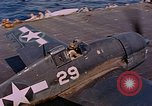 Image of US Navy Squadron VF-16 aboard USS Lexington (CV-16) Pacific Ocean, 1944, second 23 stock footage video 65675071281