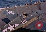 Image of US Navy Squadron VF-16 aboard USS Lexington (CV-16) Pacific Ocean, 1944, second 24 stock footage video 65675071281