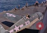 Image of US Navy Squadron VF-16 aboard USS Lexington (CV-16) Pacific Ocean, 1944, second 25 stock footage video 65675071281