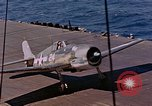 Image of US Navy Squadron VF-16 aboard USS Lexington (CV-16) Pacific Ocean, 1944, second 26 stock footage video 65675071281