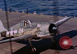 Image of US Navy Squadron VF-16 aboard USS Lexington (CV-16) Pacific Ocean, 1944, second 27 stock footage video 65675071281