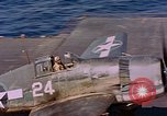 Image of US Navy Squadron VF-16 aboard USS Lexington (CV-16) Pacific Ocean, 1944, second 29 stock footage video 65675071281
