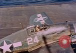 Image of US Navy Squadron VF-16 aboard USS Lexington (CV-16) Pacific Ocean, 1944, second 30 stock footage video 65675071281