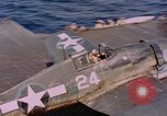 Image of US Navy Squadron VF-16 aboard USS Lexington (CV-16) Pacific Ocean, 1944, second 31 stock footage video 65675071281