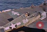 Image of US Navy Squadron VF-16 aboard USS Lexington (CV-16) Pacific Ocean, 1944, second 32 stock footage video 65675071281